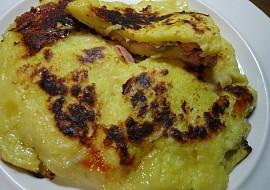 Plněná bramborová placka z pánve recept