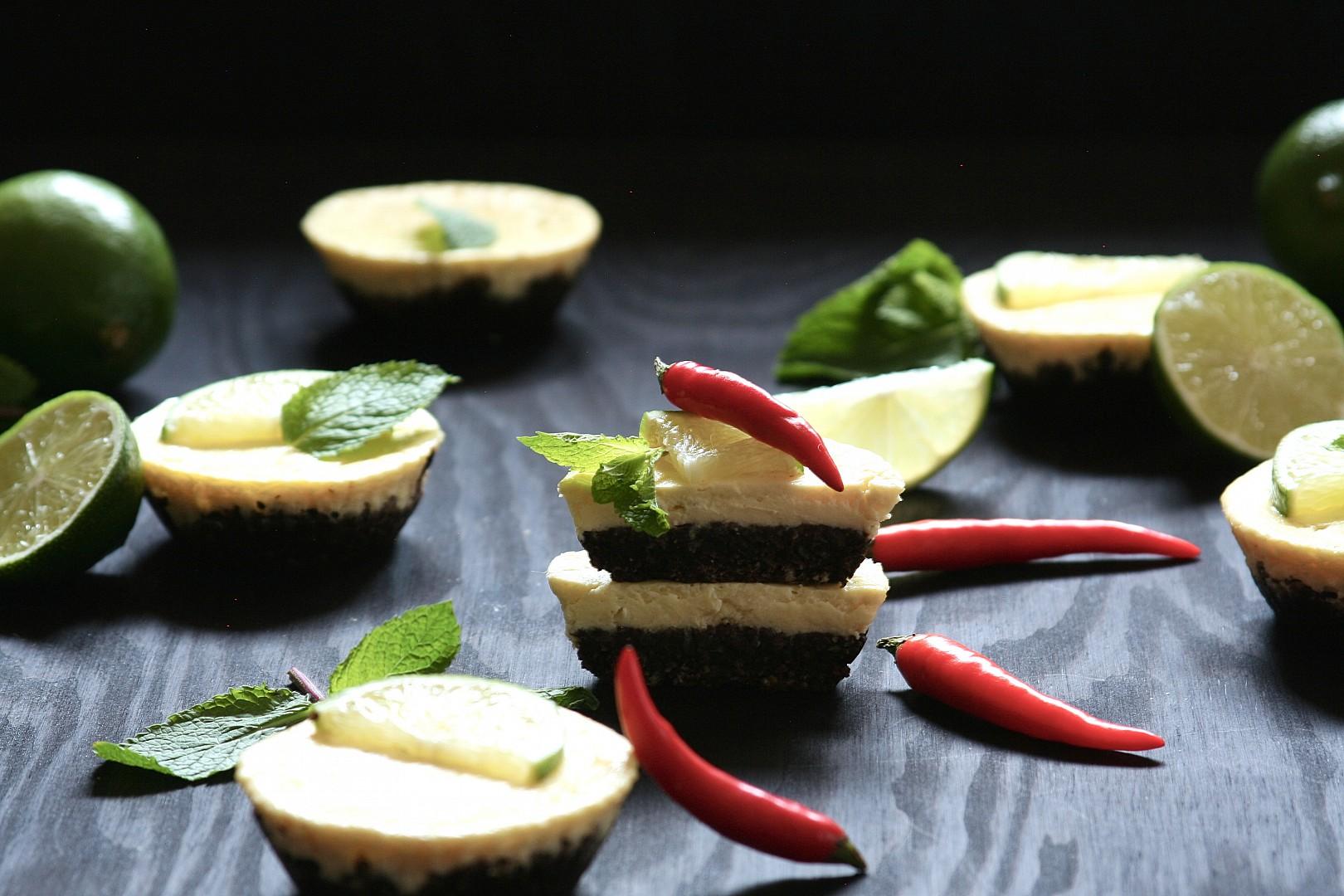 Tvarohové dortíčky s chilli a limetkami recept