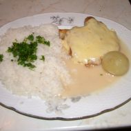 Kuře s vinnou omáčkou a rýží recept