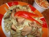 Těstoviny s houbami a tempehem recept