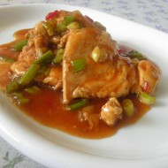 Kuřecí plátky s pikantní sladkokyselou omáčkou recept