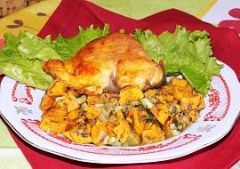 Kapr na batátovo-okurkovém základě recept