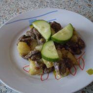 Pánev s brambory a kuřecími srdíčky recept