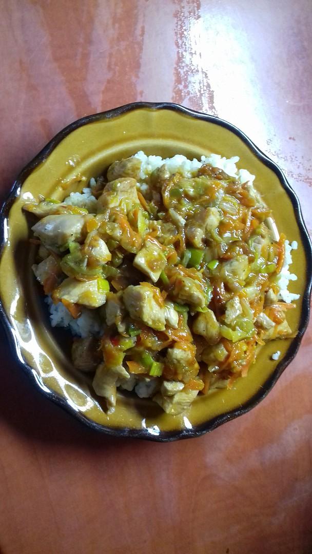 Kuřecí nudličky s ledovým salátem recept