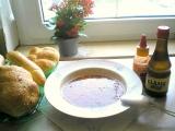 Dršťkovka s morkovou kostí a cibulkou. recept