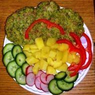 Brokolicové placky se šunkou recept