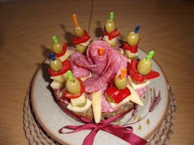 Masový dort narozeninový