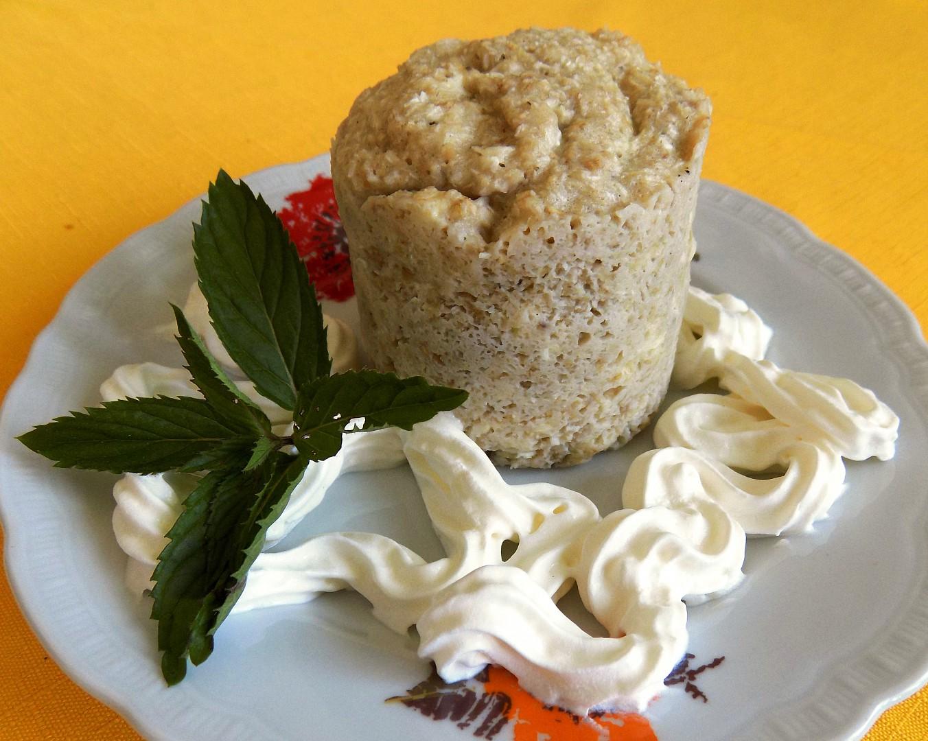Banánový mugcake s kokosem recept