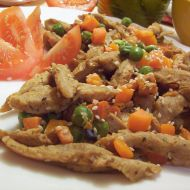 Sójové nudličky se zeleninou recept