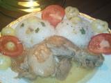 Kuře pečené na víně s cibulí a česnekem recept