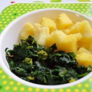 Dušený čerstvý špenát s bramborem  dětské menu recept