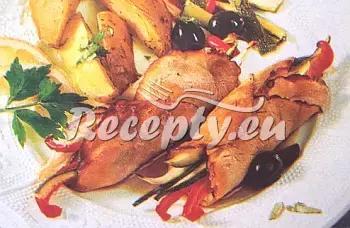 Závitky s avokádovým krémem recept  vepřové maso