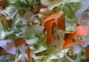 Ledový salát s karotkou