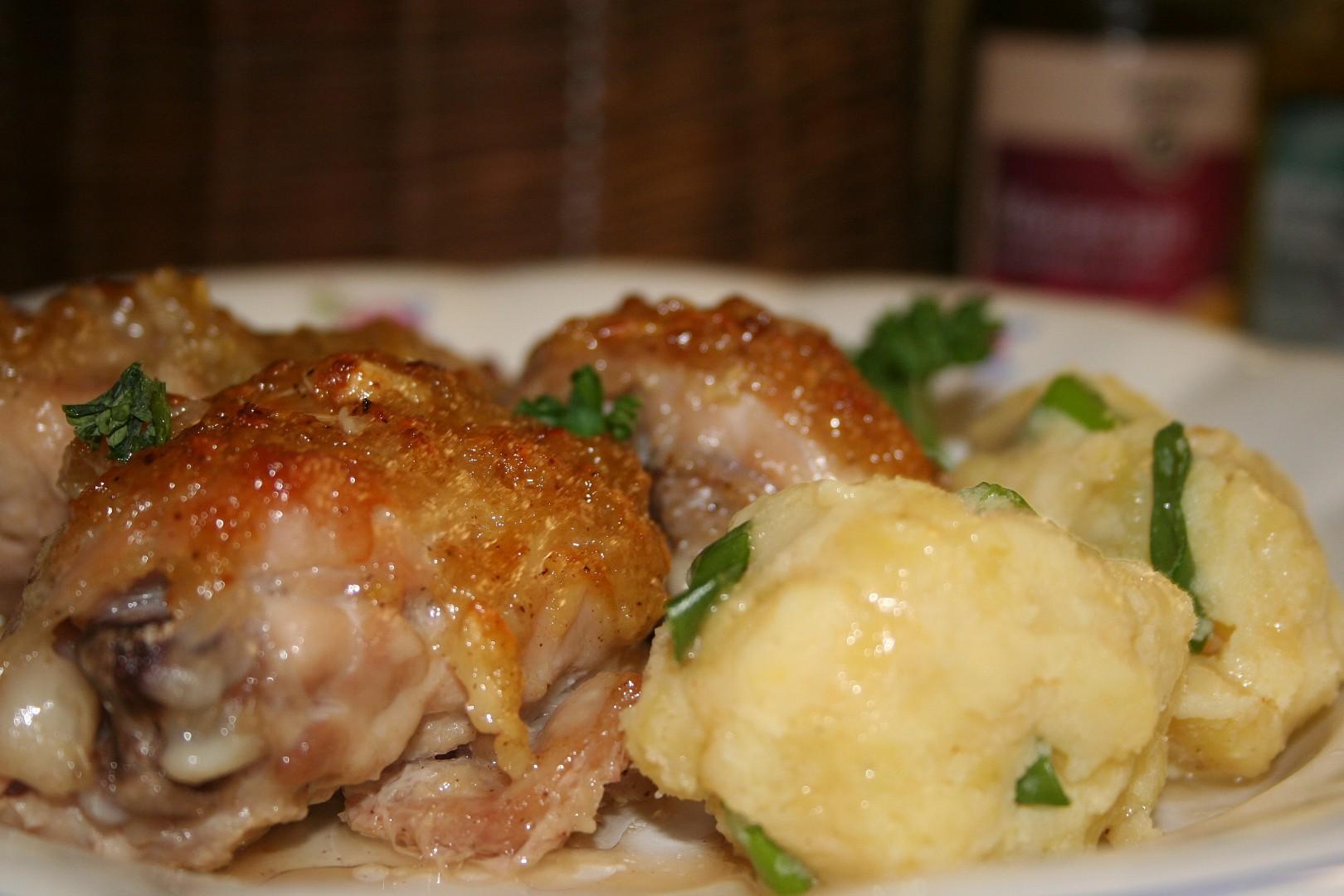 Kuře s česnekem a džemem recept