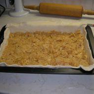 Řezy z listového těsta s jablky a tvarohem recept