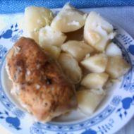 Kuřecí závitky plněné houbami recept