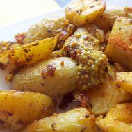 Brambory s cibulkou na hořčici recept