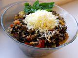 Teplý salát z černé čočky, pohankových krup a zeleniny recept ...