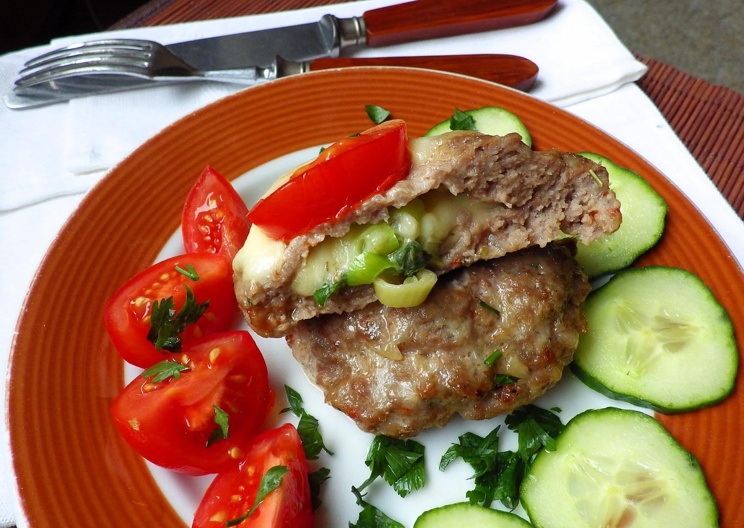 Plněné bochánky z mletého masa recept