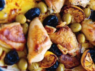 Kuře s olivami