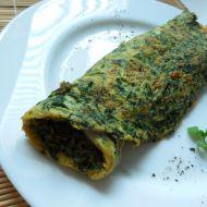Vaječná omeleta s čerstvým špenátem recept