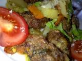 Pikantní kefty-šišky se zeleninou a sýrem recept