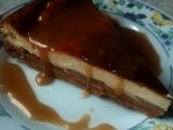 Jablečný cheesecake s karamelovou polevou recept