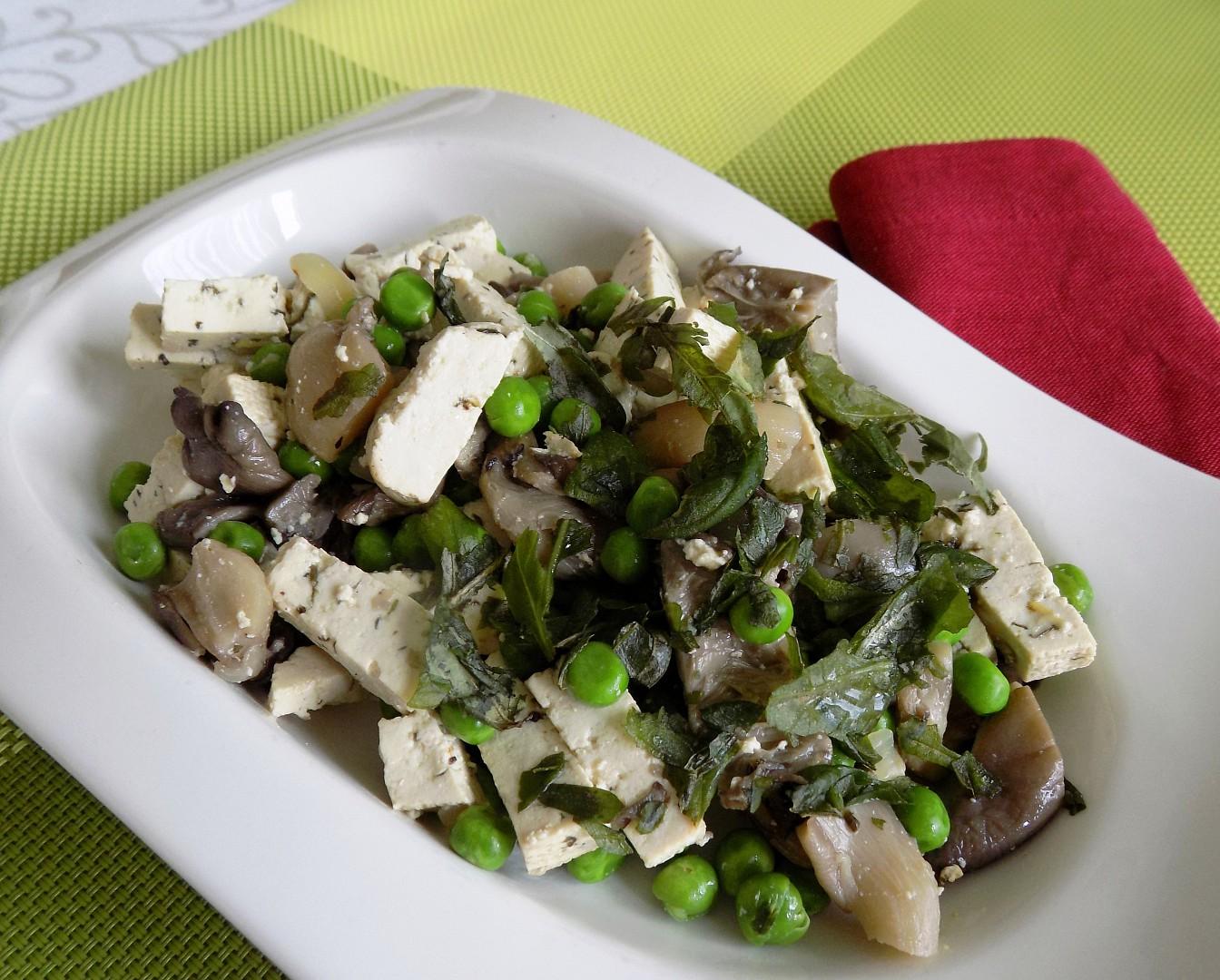 Tofu na hlívě recept