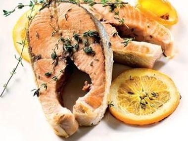 Pomerančový losos s tymiánem
