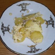 Zapékané brambory s masem a smetanou recept