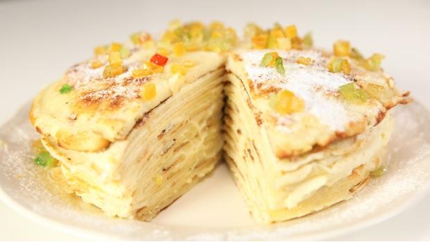 Palačinkový dort s citronovým krémem