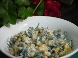 Salát z kukuřice a šruchy zelné recept