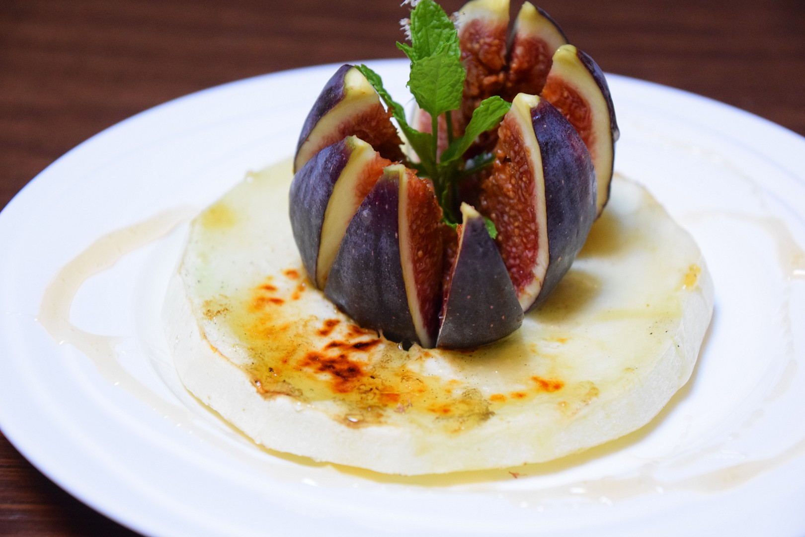 Grilovaný žlutý meloun a fík na medu recept
