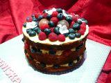 Bezlepkový nahatý dort(Naked cake) recept