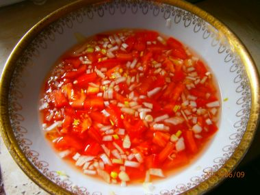 Osvěžující rajčatový salát.
