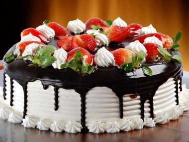 Jahodový tvarohový dort