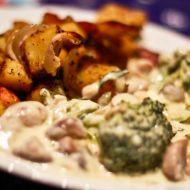 Brokolice s nivovo-houbovou omáčkou recept
