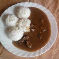 Játrová omáčka s rýží recept