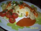 Brambory se zeleninou, kuřecím masem a sýrem v parním hrnci ...