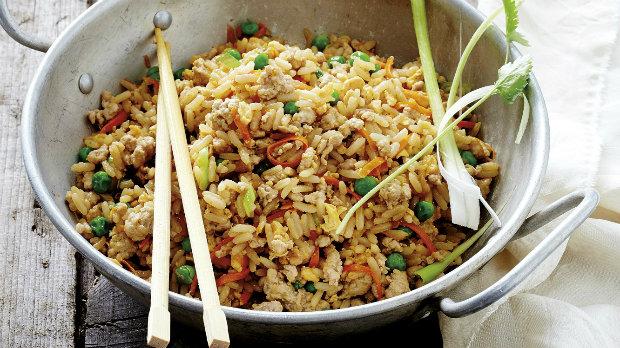 Smažená vepřová rýže