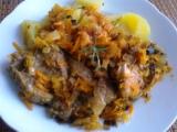 Krkovice pečená v kysaném zelí recept