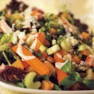 Salát se sladkými bramborami a fazolemi recept