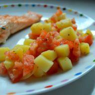 Lehký bramborovo-rajčatový salát recept