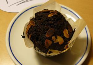 Muffiny s mandlemi a čokoládou