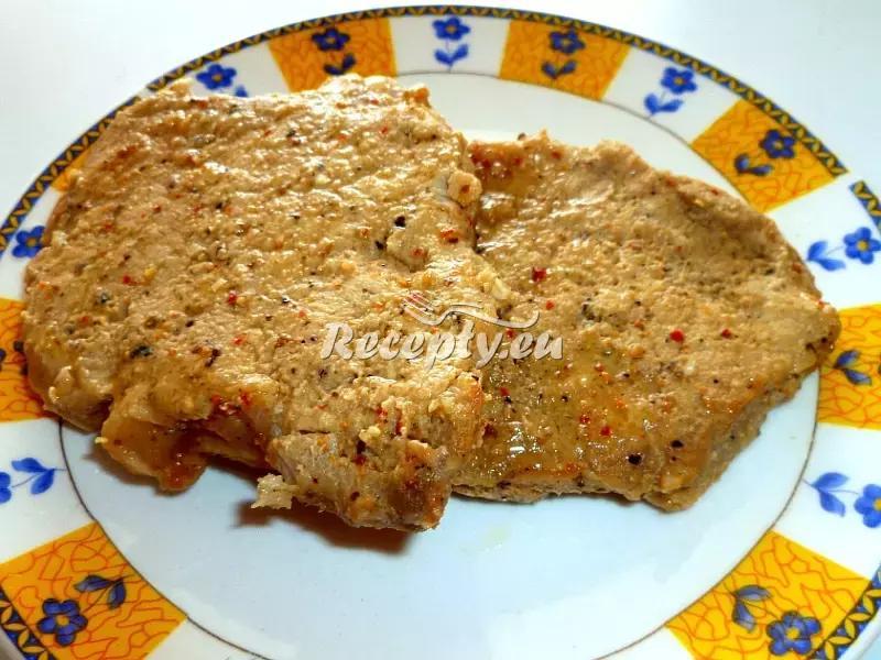 Vepřové kotlety na hořčici recept  vepřové maso