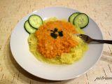 Špagetová dýně s čočkovou omáčkou recept