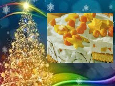 Vánoční kokosový dort