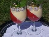 Kokosové flameri s vinným krémem a jahodami recept  TopRecepty ...