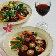 Jehněčí roláda se špenátovou náplní recept