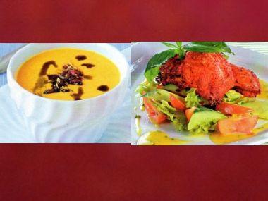 Sváteční oběd 10  Mrkvová polévka a Kuřecí rošáda